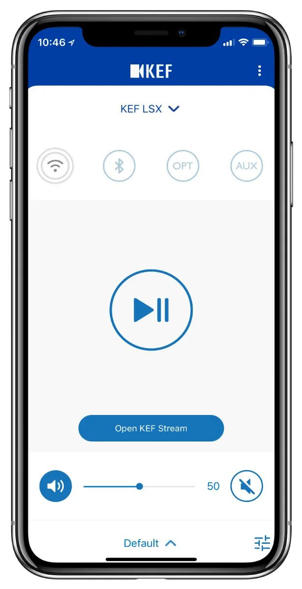 KEF LSX Wireless Features KEF Stream APP bringing all your music to your speakers wirelessly