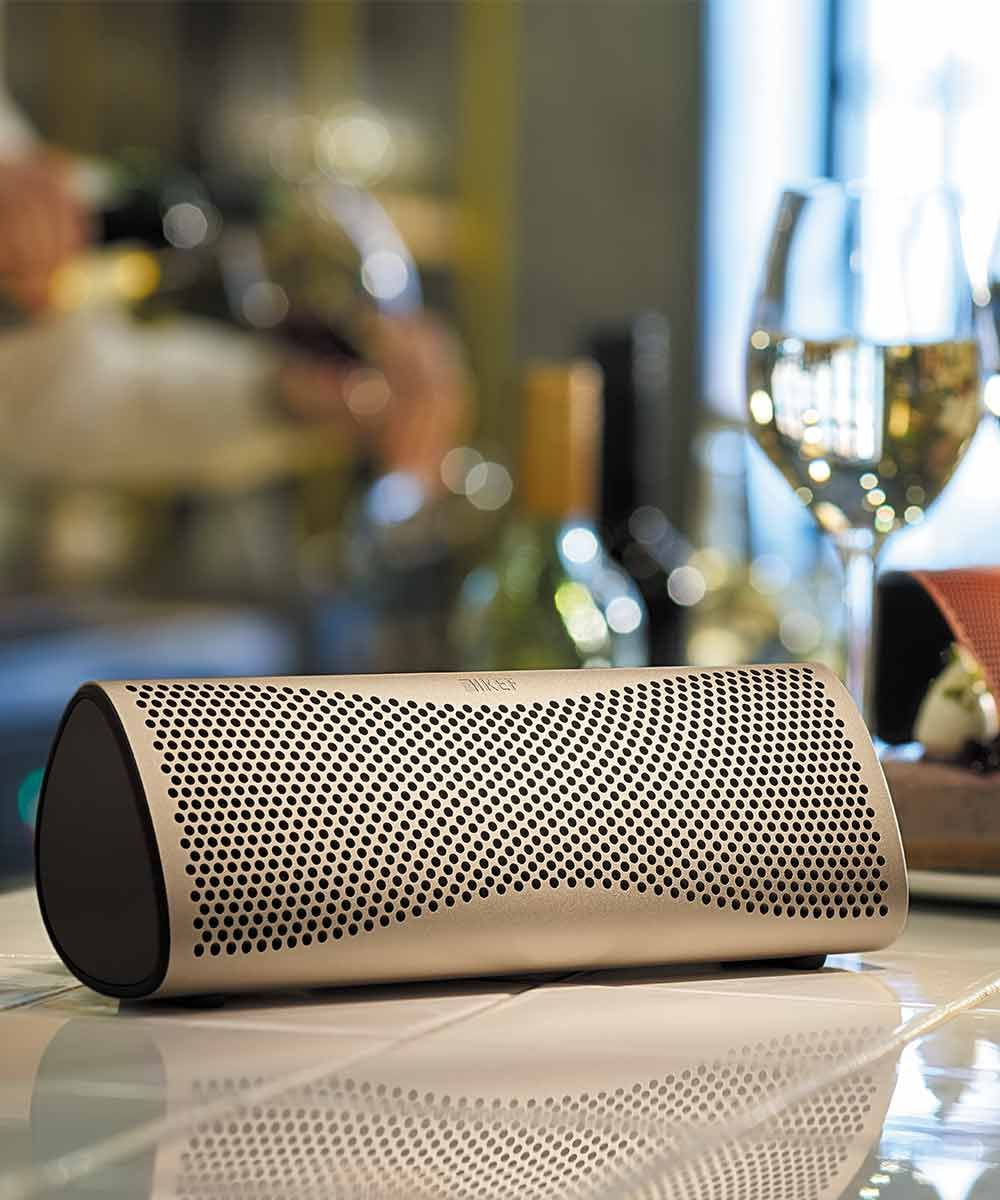 Muo Portable Bluetooth Speaker Dinner Party | KEFDirect