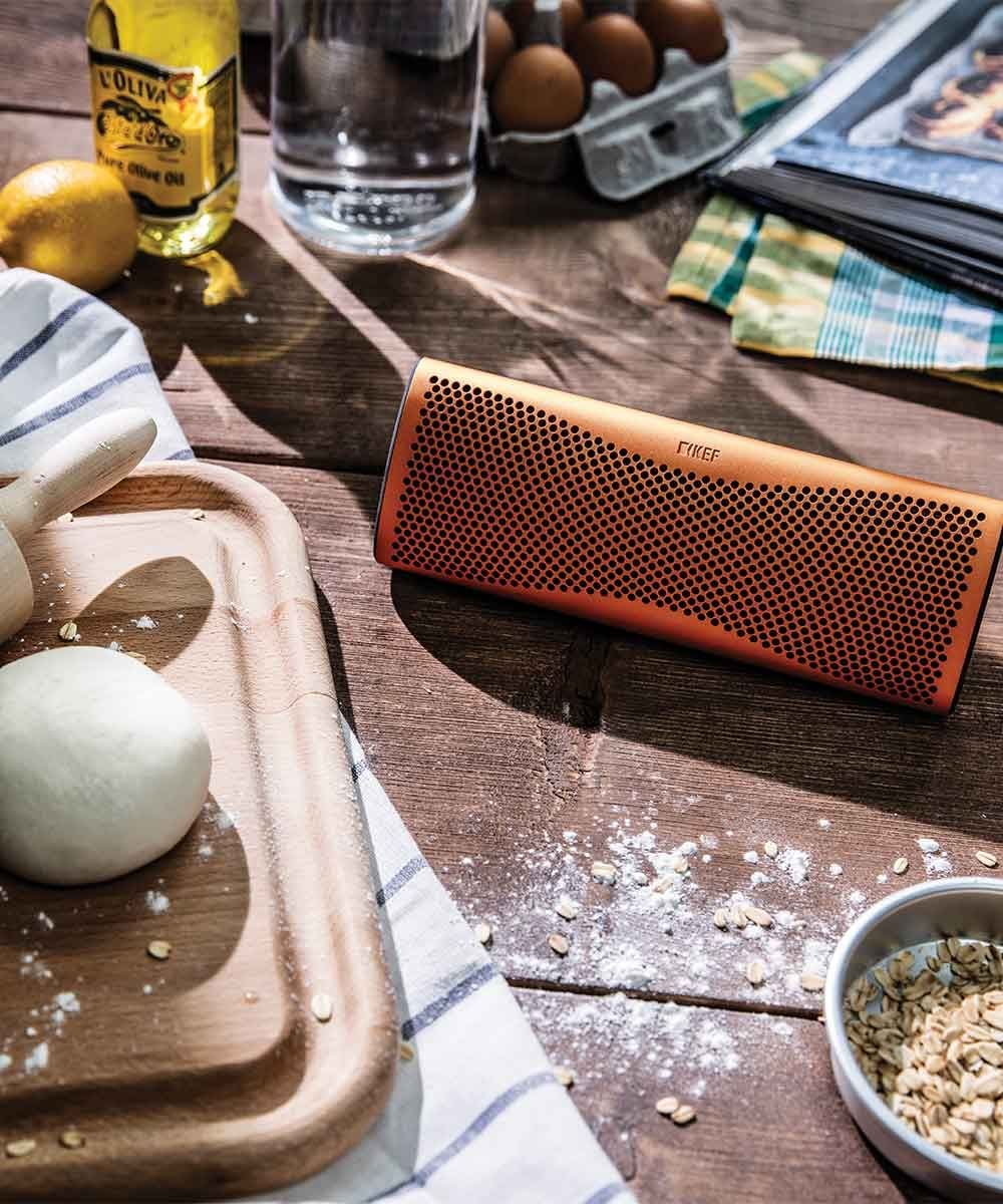 Muo Portable Bluetooth Speaker Kitchen | KEFDirect