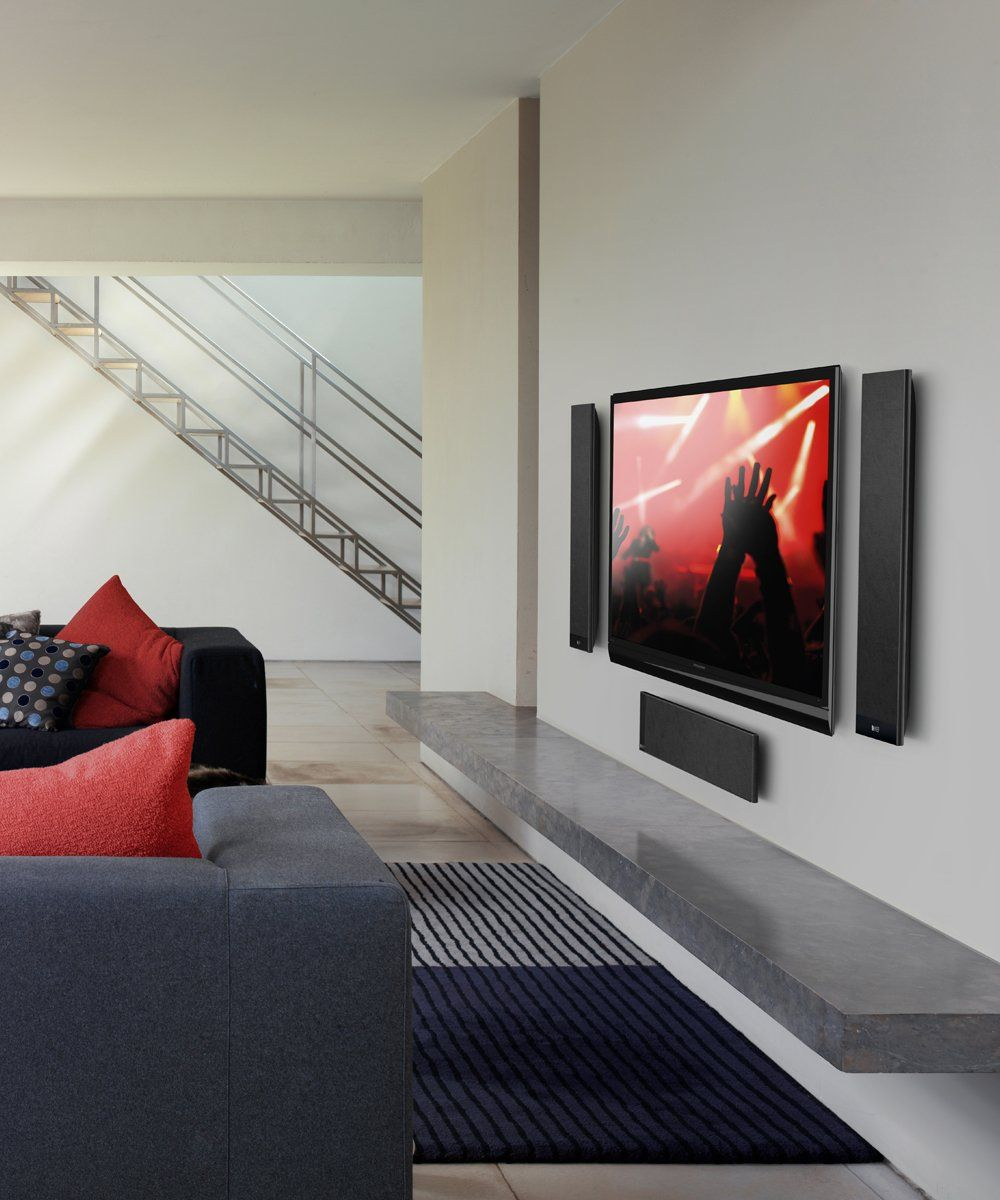 KEF T205 Speaker System on Wall