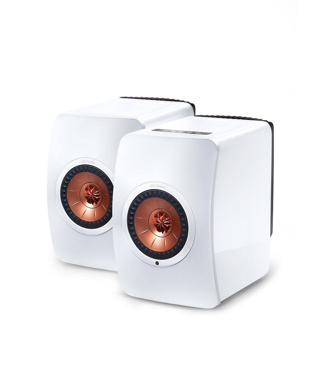 LS50 Wireless Powered Music System Gloss White / Copper