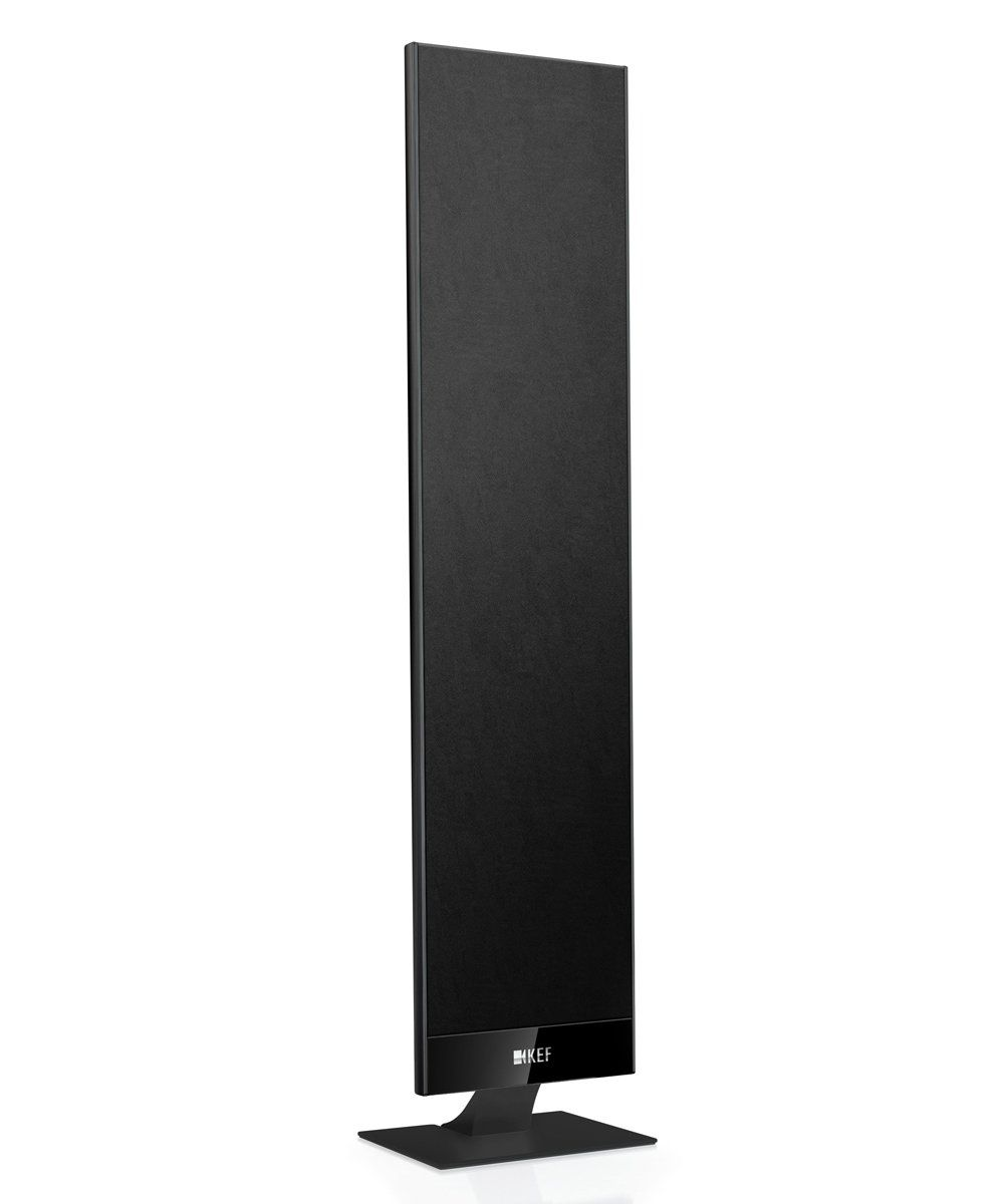 KEF T301 Speakers Black Finish on Desk Stand