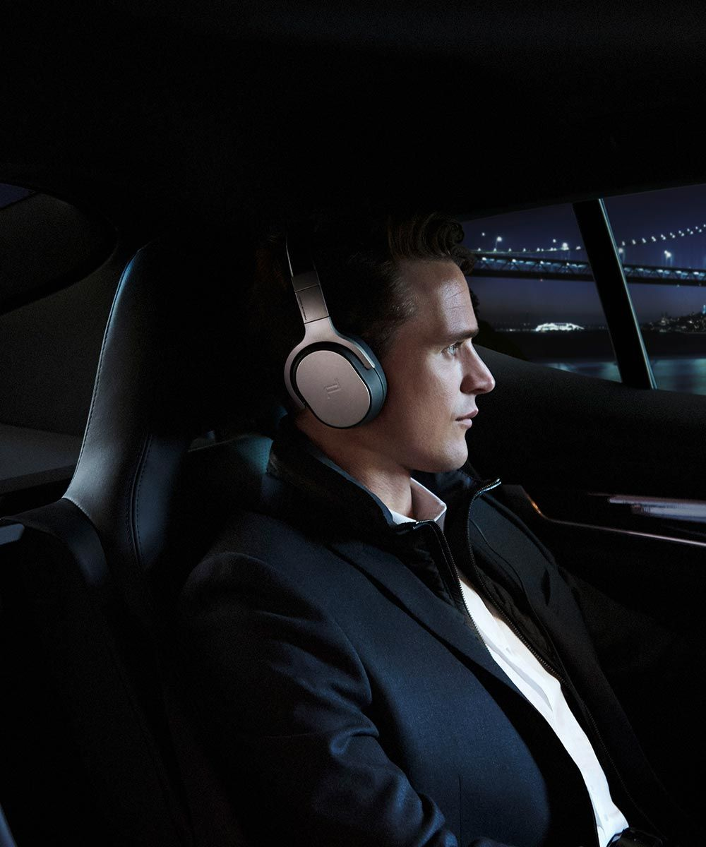 KEF Porsche Design Bluetooth Headphones Car