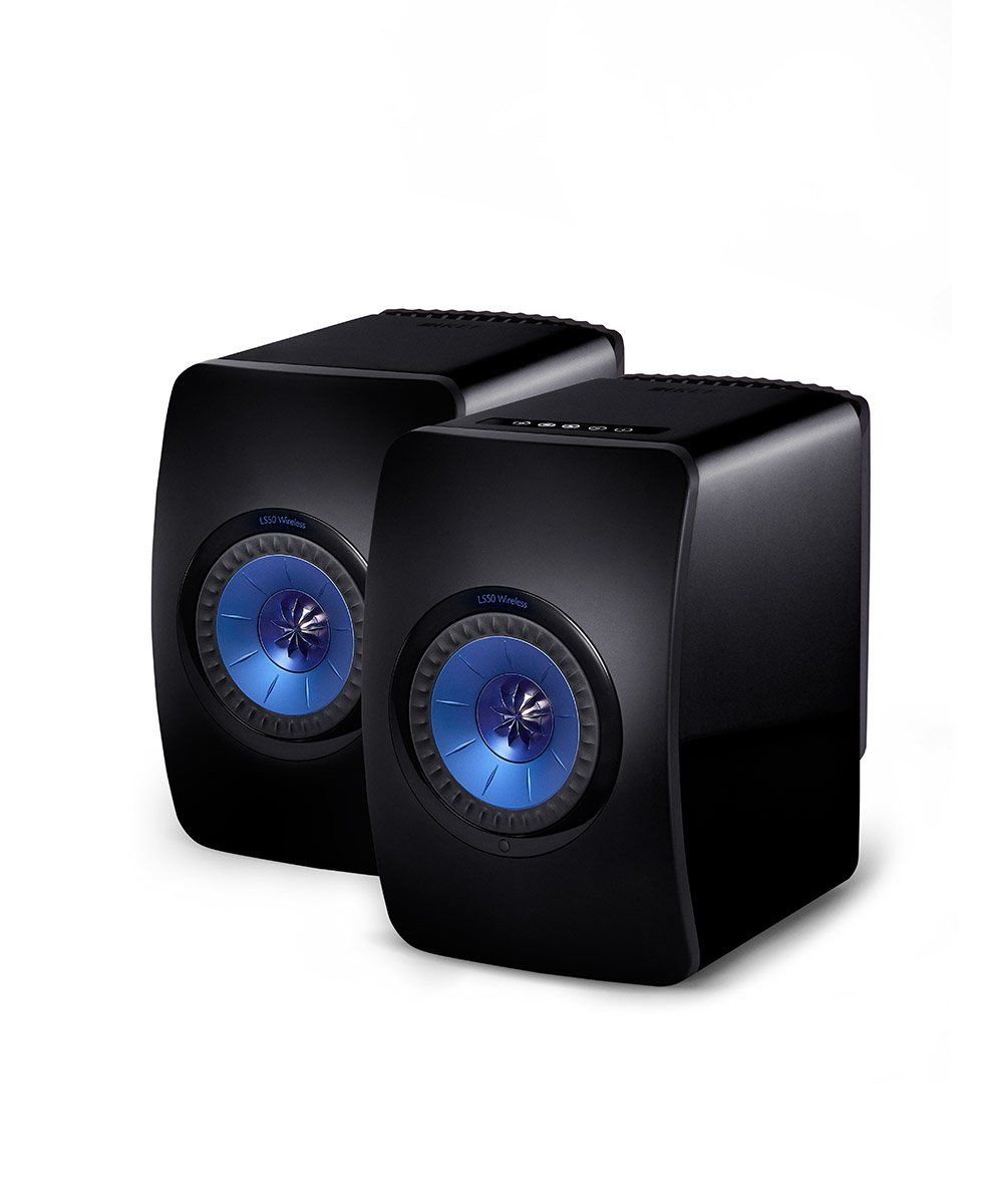 LS50 Wireless Powered Music System  Gloss Black / Blue