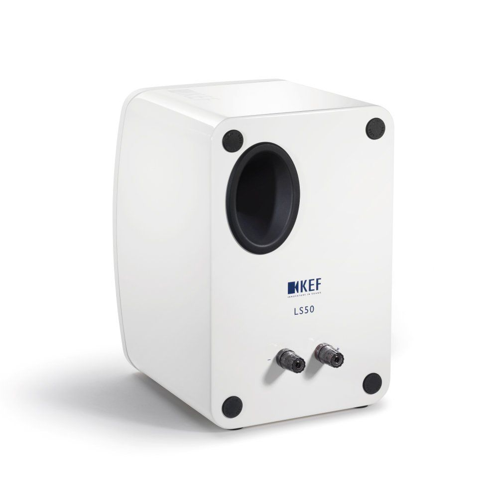 KEF LS50 Speakers White Rear View