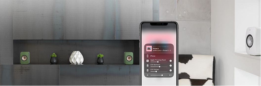 KEF LSX with AirPlay 2 provides multi-room playback.