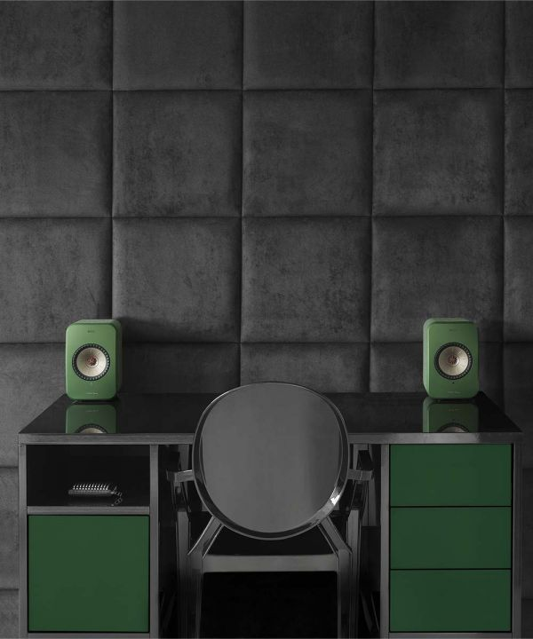 KEF LSX Wireless Desktop Speakers designed by Michael Young.