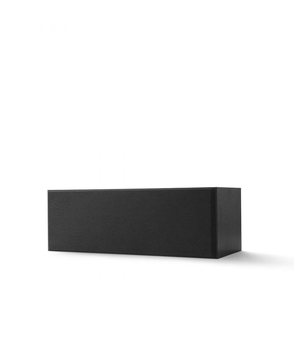 KEF Q SERIES Q250C Center Channel Speaker. Compact and versatile, use as a center channel or L/C/R configuration. Black Finish with Grille.
