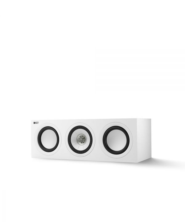 KEF Q SERIES Q250C Center Channel Speaker. Compact and versatile, use as a center channel or L/C/R configuration. White Finish.