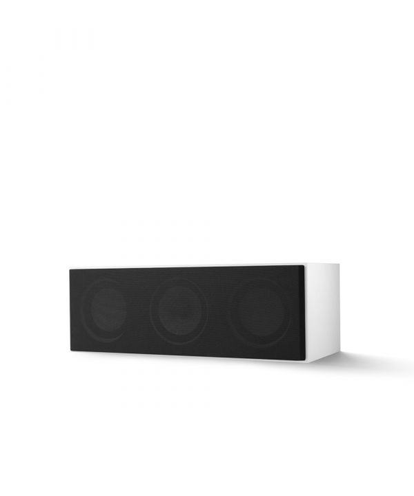 KEF Q SERIES Q250C Center Channel Speaker. Compact and versatile, use as a center channel or L/C/R configuration. White Finish with Grille.