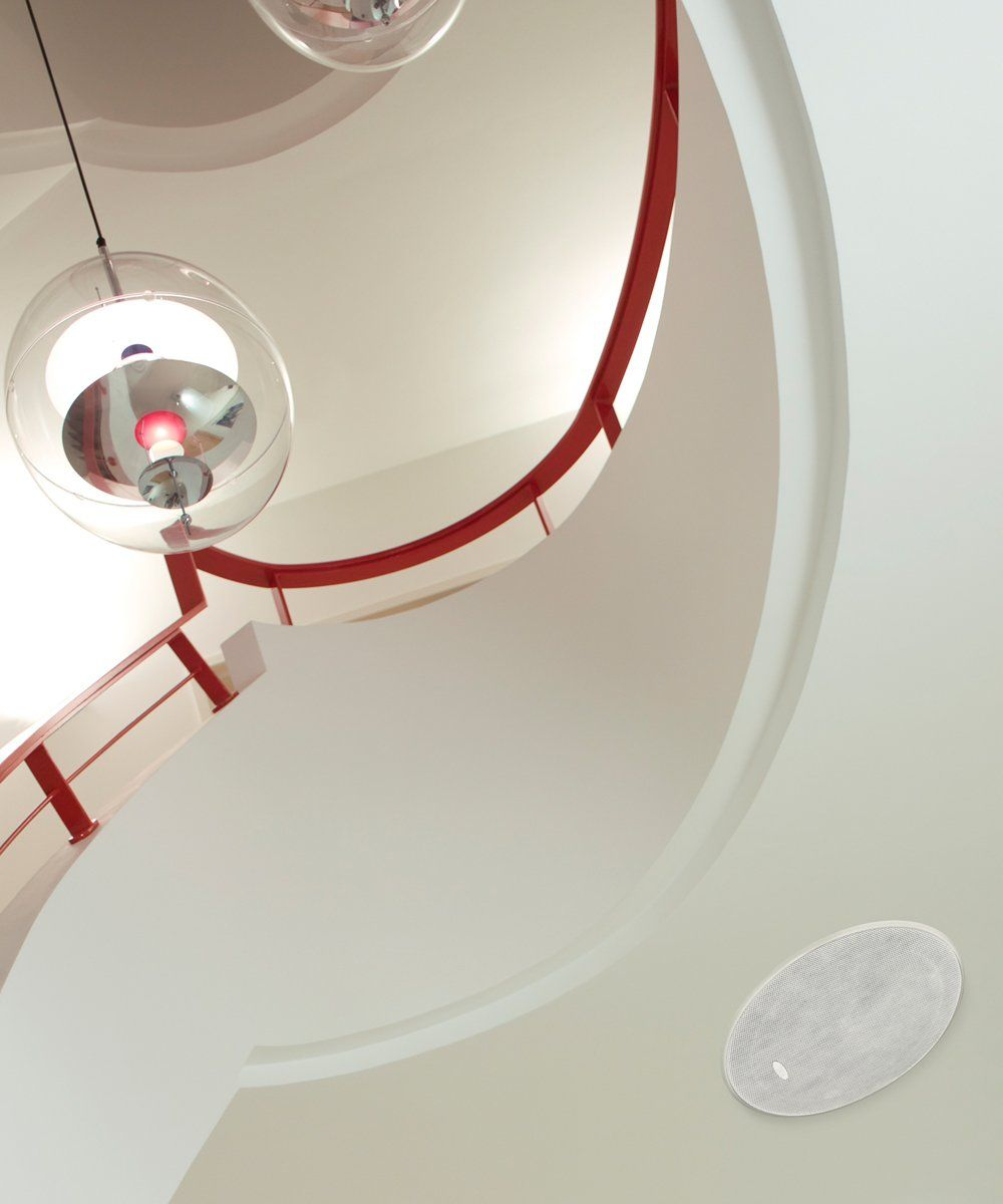Ci200QR Ultra-Thin Bezel In-Ceiling Loudspeaker with Grille Installed