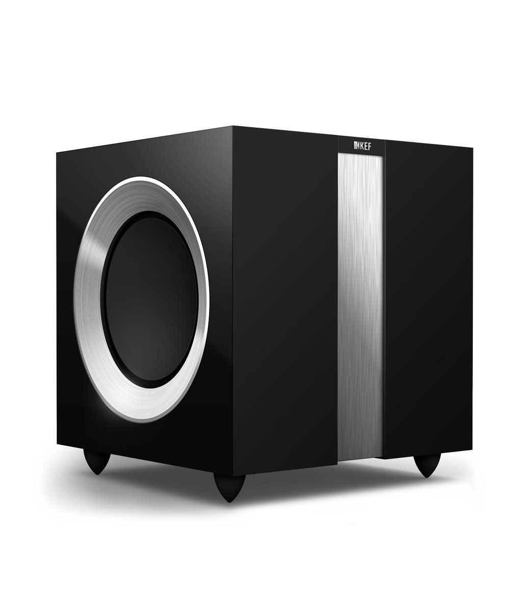 KEF R400b Subwoofer High Gloss Black / Aluminium
