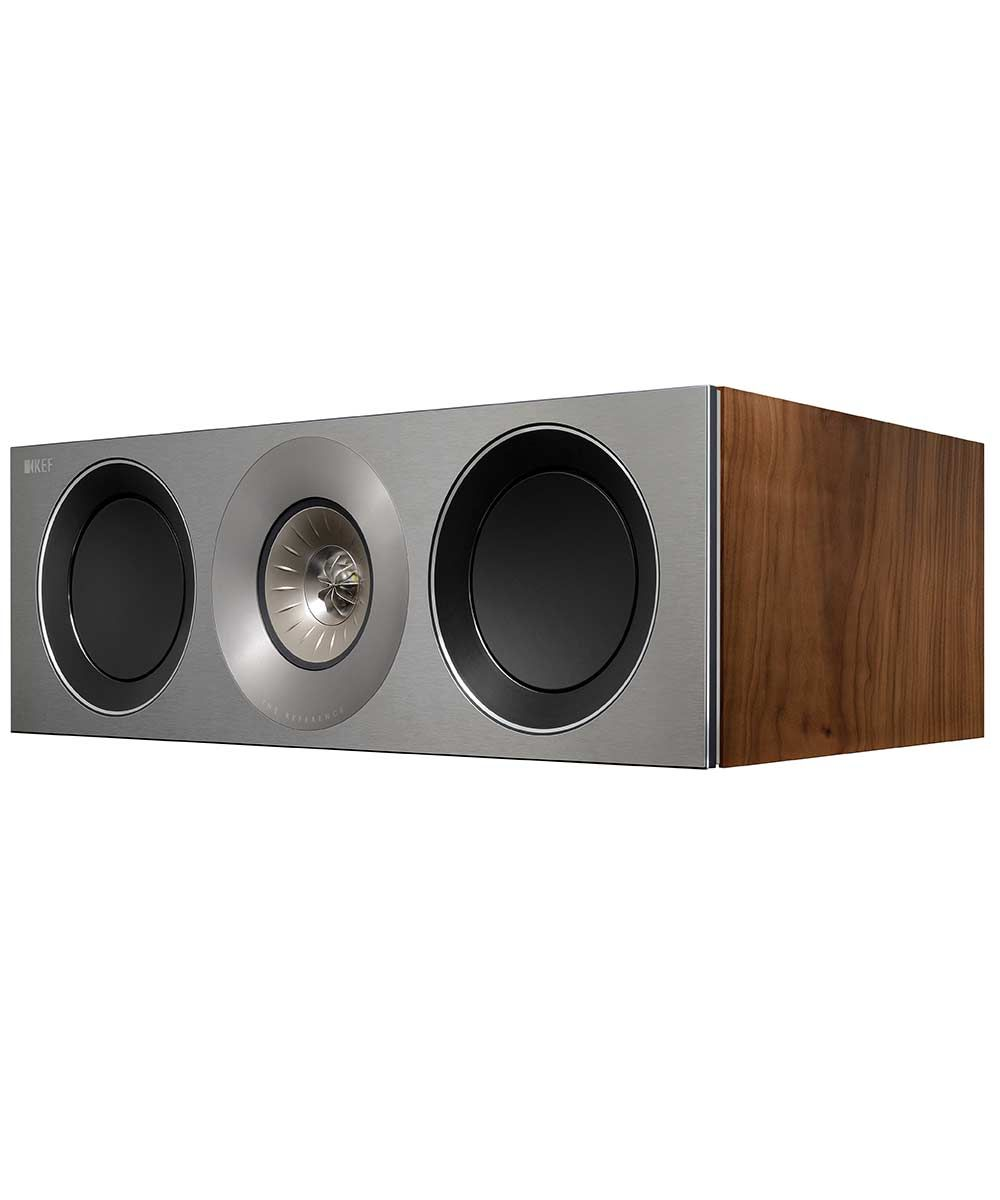 KEF Reference 2c center channel hifi speaker in Satin Walnut  | KEFDirect