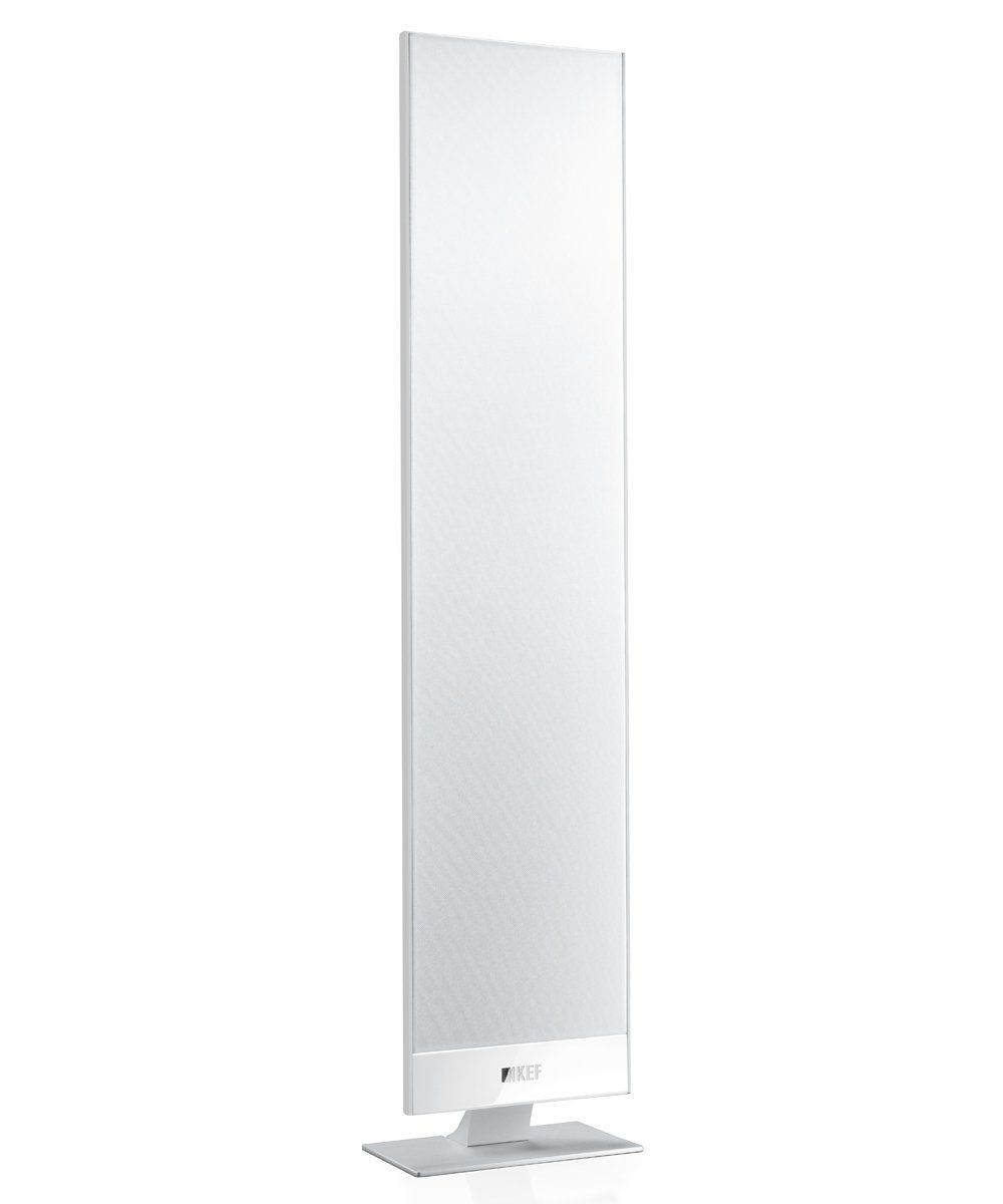 KEF T301 Speakers White Finish on Desk stand