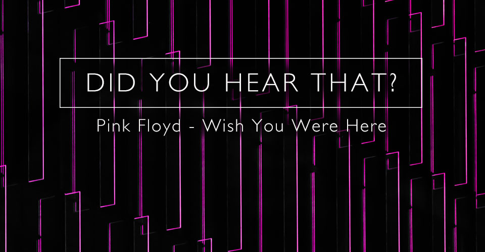 Did You Hear That? Pink Floyd Wish You Were Here